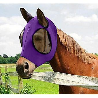 Masque de cheval anti-moustique Réglable Mesh Horse Anti-fly Mesh Equine Mask