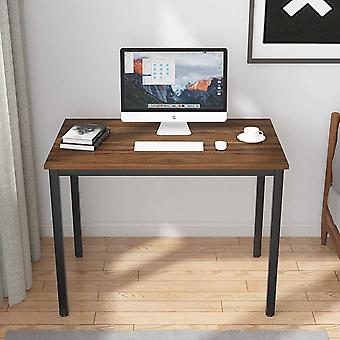 HanFei Schreibtisch Computertisch Brombel PC Tisch, 100x60cm Brotisch Arbeitstisch estisch aus Holz