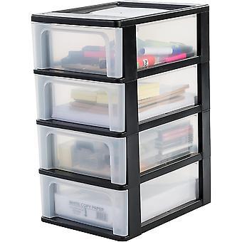 Wokex, Schubladenschrank / Schubladencontainer - Organizer Chest OCH-2004 - plastik, schwarz, 4 x 7