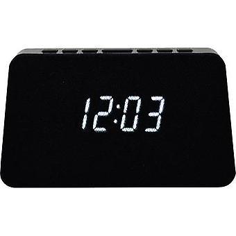 AIC WM3020i sw Radio alarm clock FM Alarm clock, Qi battery charger Black