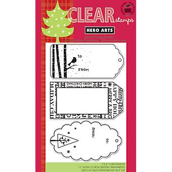 Hero Arts Christmas Tags 4X6 - Clear Stamps