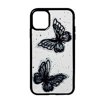 Phone Case (Black) Butterfly ShockProof Soft TPU Silicone For iPhone 11