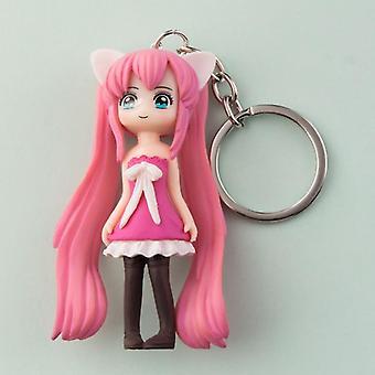Kawaii Princess Keychain Pendant Cartoon Doll Creative Female Bag Couple Key