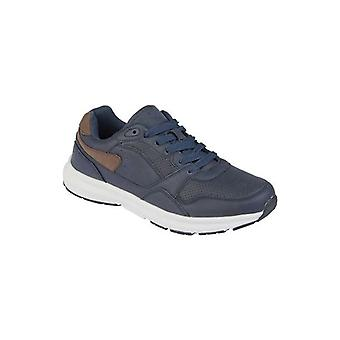 DEK Cosmos Mens Casual Lace Up Trainers Navy