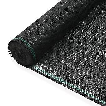 vidaXL Tennis Panel HDPE 1,2x25 m Negro