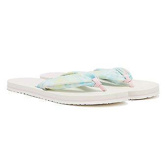 TOMS Piper Tie Dye Womens White / Multi Flip Flops