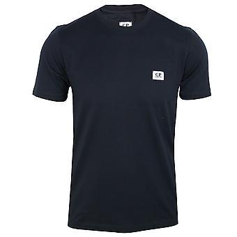 C.p. company men's navy jersey 30/1 stitch logo t-shirt