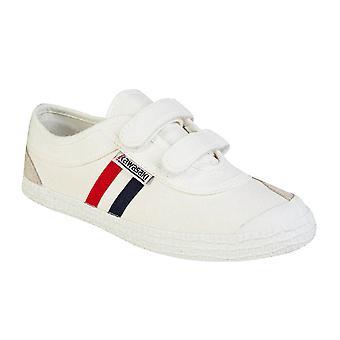 KAWASAKI FOOTWEAR - Retro shoe w Velcro - white - children's footwear