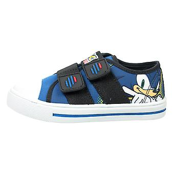 Boys Blue Madère Sonic The Hedgehog Low-Top Trainer UK Sizes Child 10 - 2