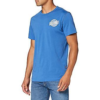 G-STAR RAW Chest Logo Grafisk rak T-shirt, Thermen 336/843, Små män