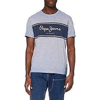 Pepe Jeans Edwin T-Shirt, Blue (bay 524), Medium Men