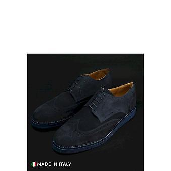 Duca di Morrone - shoes - lace-up shoes - 208-BONUCCI-CAM-BLU - men - navy - EU 41