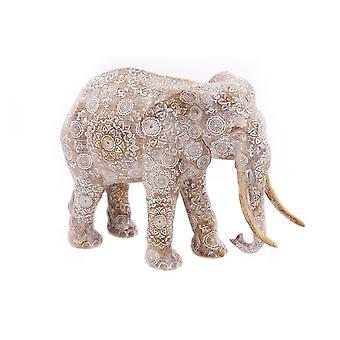 Kuvioitu elefanttikoriste kodin sisustus