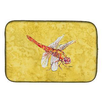 Caroline'S Treasures Dragonfly Dish Drying Mat, 14 X 21, Multicolor