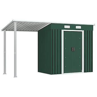 vidaXL gereedschapshuis met luifel Groen 346×121×181 cm Staal