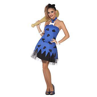 Kostüm für Erwachsene Caveman Blau (2 Stk.
