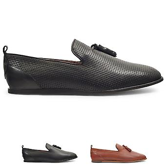 Mens H By Hudson Comber Embossed Woven Leather Smart Office Work Shoes