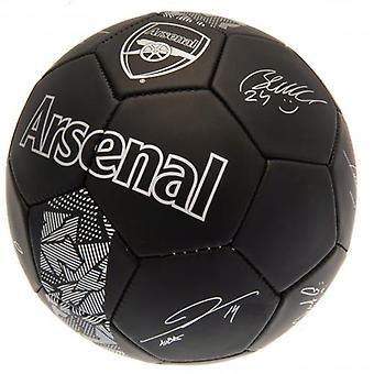 Arsenal FC Football Black Signature
