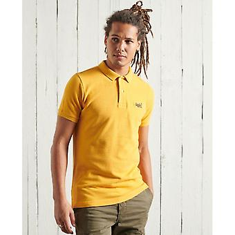 Superdry Bio-Baumwolle classic Pique Polo Shirt - Upstate Gold Marl