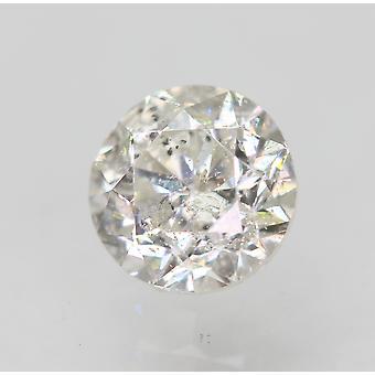Certified 0.45 Carat G SI1 Round Brilliant Enhanced Natural Loose Diamond 4.59mm
