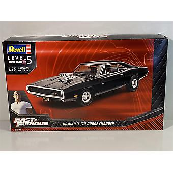 Fast and Furious 1970 Dodge Charger 1:25 Model Kit Revell 07693