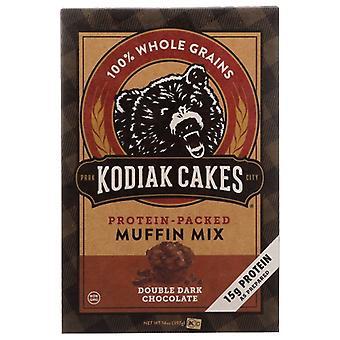 Kodiak Mix Muffin Dbl Drk Choc, Case of 6 X 14 Oz