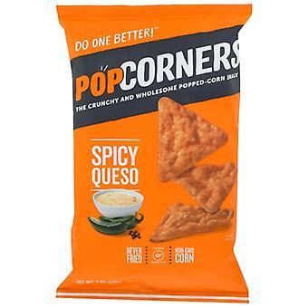 Popcorners Chips Corn Spicy Queso, Tilfelle av 12 X 7 Oz