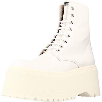 Gele enkel laarzen tank ijs kleur