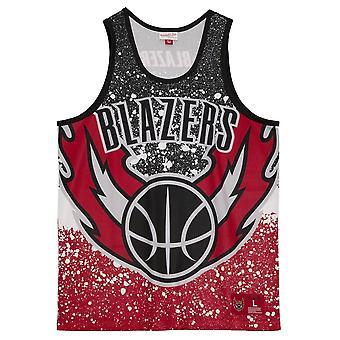 Mitchell &Ness Nba Portland Trail Blazers Tank Top MSTKAJ19070PTBSCAR basket-ball toute l'année t-shirt masculin