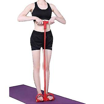 Sit Up Aid, Tragbarer einstellbarer Sit Up Assist, Sit Up Muskeltraining Körper (ROT)
