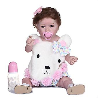 56Cm soft full body silicone hand-made detailed painting collectibles rebborn baby doll can take bath