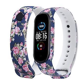 Bracelet bracelet, Folwers colorés Silicone Soft Tpu, Remplacement Sport