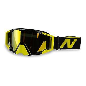 Nitro NV-100 Motocross Protective Goggles Neon Yellow