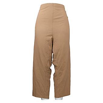 Vrouwen met Control Women's Plus Pants Crop Brown A379886