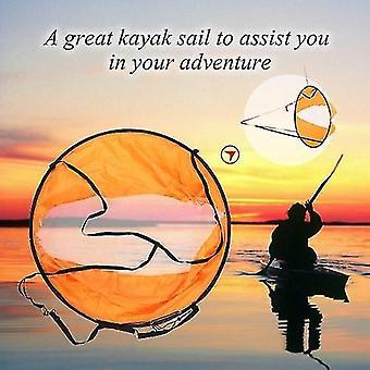 Kayak accessories 108cm diameter downwind popup kayak sail spring frame kayak wind sail kayak accessories for adventure