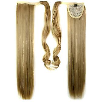 (60cm24-27#) Női női Clip In, mint Hair Extension Pony Tail Wrap Around Wrap A Lófarok