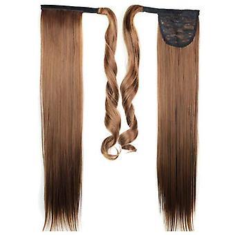 (60cm4-30#) Damen Damen Clip In als Haarverlängerung Pferdeschwanz Wrap Around Wrap Auf Pferdeschwanz
