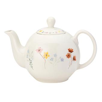 English Tableware Co. Pressed Flowers 6 Cup Teapot