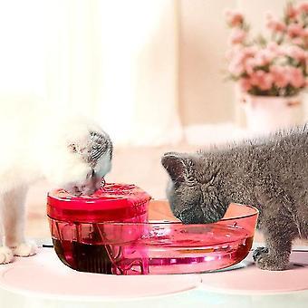 Hund und Katze automatische Zirkulation Filter Kern Trinkbrunnen Haustier liefert, CN-Stecker (Rose rot)