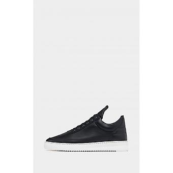 Filling Pieces Black Low Top Ripple Nappa