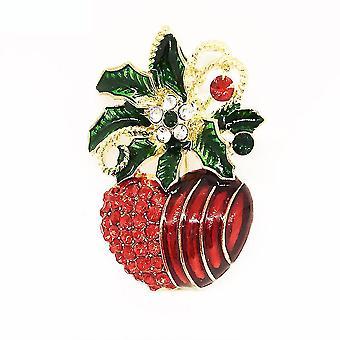 Női bross sütőtök cseresznye fűző festett zománc festés máz bross pin