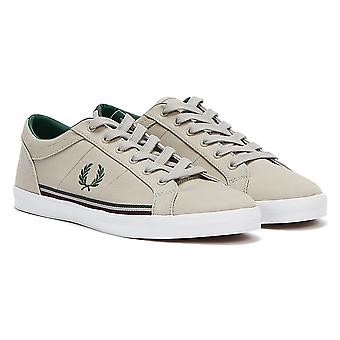 Fred Perry Baseline Twill Mens Light Grey Trainers