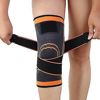 Orange xl 1 pair sports knee pads knee brace compression knee sleeve unisex zf1286