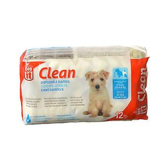 """Dog It Clean Disposable Diapers - Small - 12 Pack - 8-15 lb Dogs - (13-19"""" Waist)"""