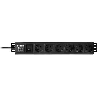 TOTEN, power strip 6xCEE 7/4 1xCEE 7/7 switch 3 m 19 '
