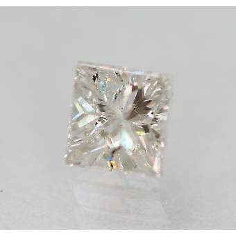 معتمد 0.59 قيراط E SI1 الأميرة تعزيز الماس فضفاضة الطبيعية 4.5x4.28m 2VG