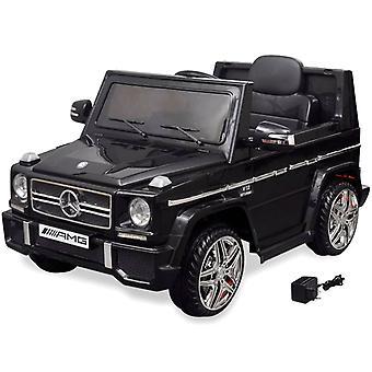 Leluauto Mercedes Benz G65 sähkökäyttöinen 2 moottoria musta