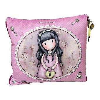 Cushion Secret Gorjuss Pink Polyester