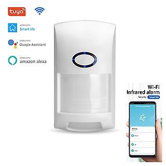 Tuyaスマート無線LAN赤外線検出器屋外ワイヤレスPirアラームモーションセンサーTuyaアプリスマートホームセキュリティはGoogle Alexaで動作