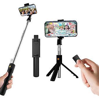 Laajennettava Bluetooth Selfie Stick -kolmijalka langattomalla kaukosäätimellä
